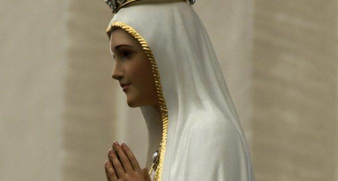 La statua della Madonna di Fatima a Cesano