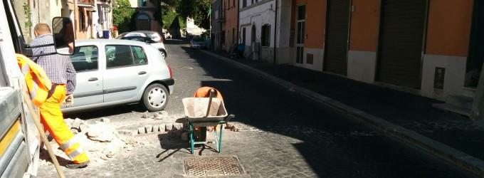 Lavori al Borgo di Cesano – Via borgo di sopra