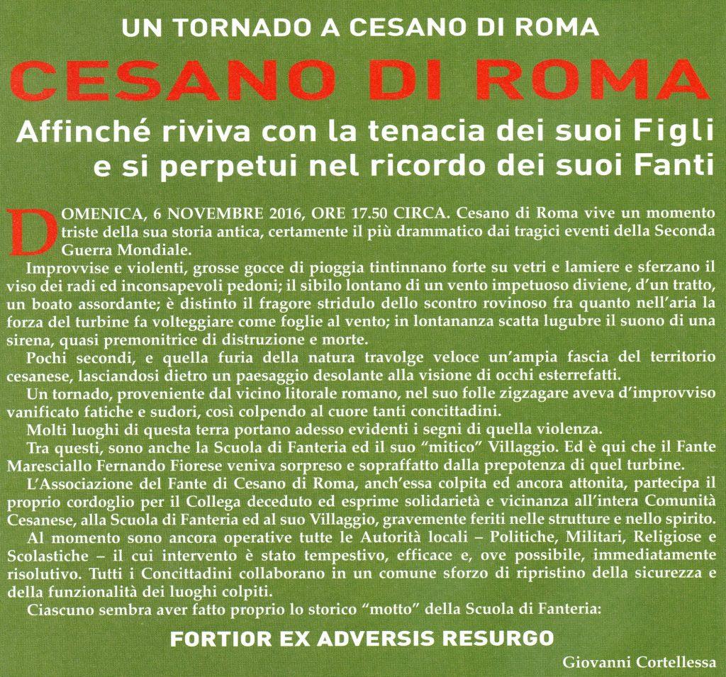 Un tornado a Cesano di Roma