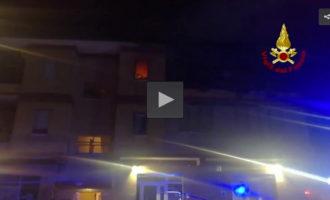 Video – VVFF Incendio in un appartamento a Cesano di Roma