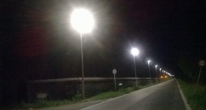 In funzione dopo due anni pali della luce di Cesano