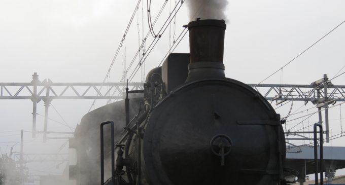 Treno d'epoca a vapore sulla FL3