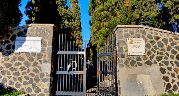Incendio al cimitero di Cesano
